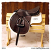 Jumper and hunter saddles made for model horses by Jana Skybova