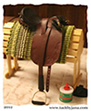 Aussie saddle made for model horses by Jana Skybova