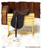 Polo saddle made for model horses by Jana Skybova